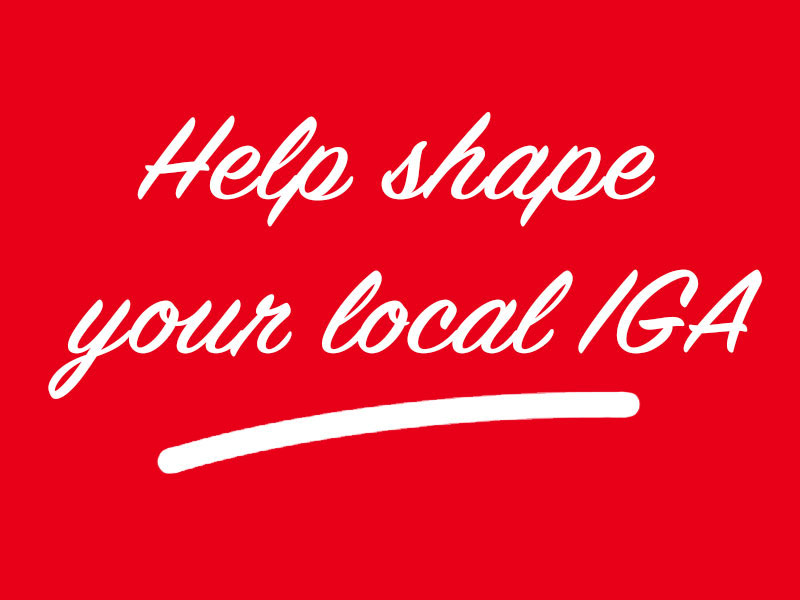 Shape your Local IGA