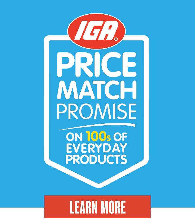 IGA Price Match Promise