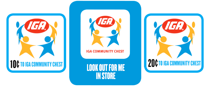 IGA Community Chest badges