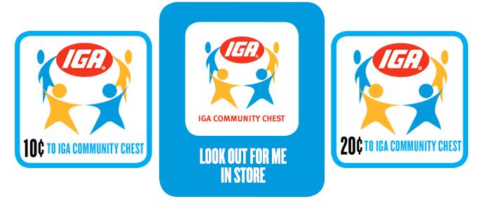 IGA Community Chest badges
