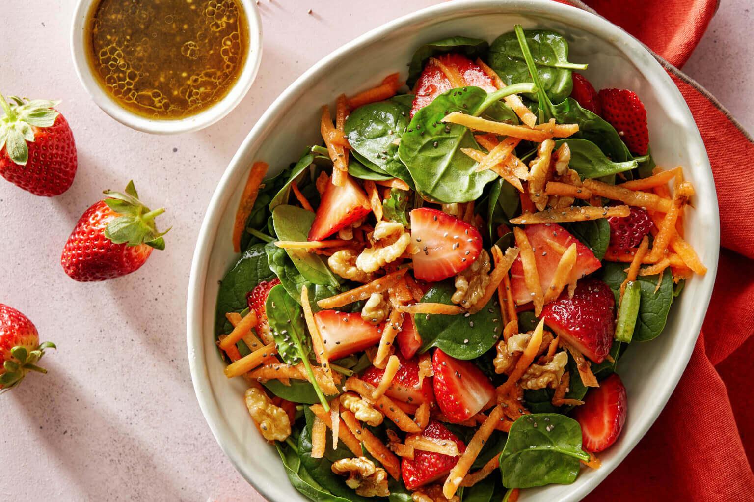 Chia Berry Spinach Salad Iga Recipes