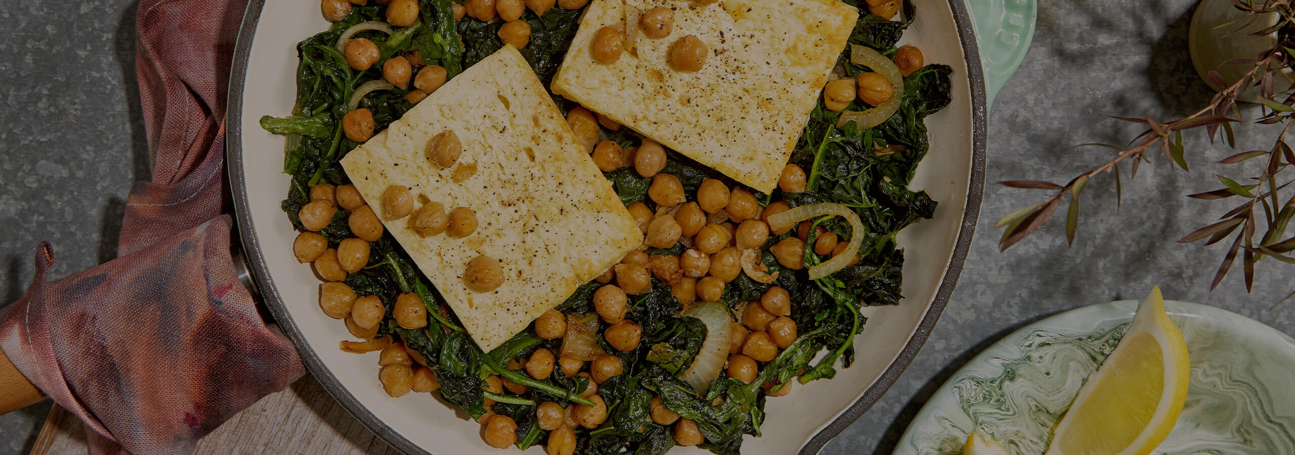 Baked Feta with Chickpeas